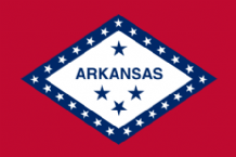 ARKANSAS- MINI FLAG 22.5cm x 15cm